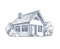 House sketch vector Royalty Free Stock Photos