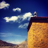House. The house and sky in Tibet royalty free stock photography