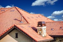House Slates Roof Royalty Free Stock Images