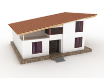 The house with sloping roof №3 Royalty Free Stock Photography