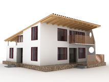 The house with sloping roof №2 Royalty Free Stock Image