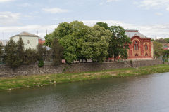 House of the small town of Uzhgorod Royalty Free Stock Photo