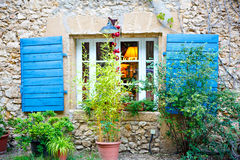 House of small typical town in Provence, France Royalty Free Stock Photography