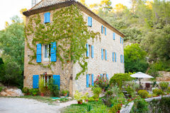 House of small typical town in Provence, France Royalty Free Stock Photos