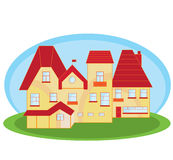 House small vector. Small house on the green grass vector Royalty Free Stock Photos