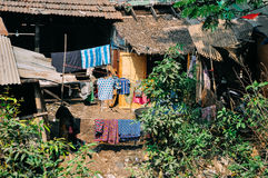 House in a small village in Myanmar. Royalty Free Stock Photos