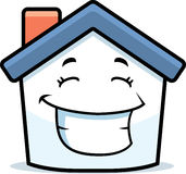 House Smiling. A cartoon house happy and smiling Royalty Free Stock Photo