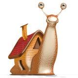 house snailen Arkivbild