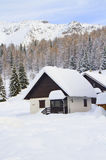 House with the snow Royalty Free Stock Image