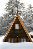 House with the snow Royalty Free Stock Photography