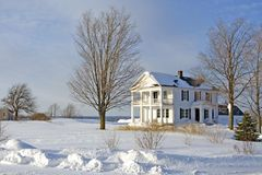 House in snow Stock Photography