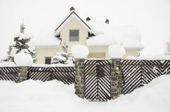 House with snow Royalty Free Stock Images