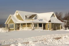 House in Snow Stock Image