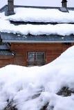 House in snow Stock Photos