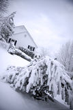 House in snow Royalty Free Stock Images
