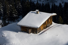 House in snow royalty free stock photos