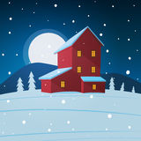 House in the snow Stock Photography