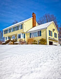 House in snow Stock Images