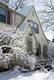 House after a snowfall Royalty Free Stock Image