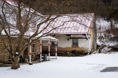 House on a snowy winter day, in a rural area of Carroll County,. Maryland Stock Images
