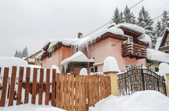 House snowy winter Stock Image