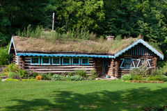 House with Sod Roof Royalty Free Stock Image