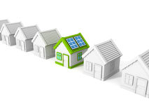 House with solar battery panels on the roof Royalty Free Stock Photography