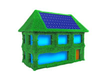 House with Solar Cells Royalty Free Stock Image