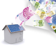 House with solar energy to make money Royalty Free Stock Photography