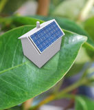 House with solar energy to make money Royalty Free Stock Photos