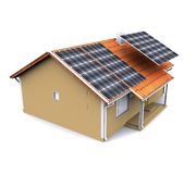 House with solar energy to make money Royalty Free Stock Images