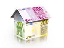 House with solar energy to make money Royalty Free Stock Photo