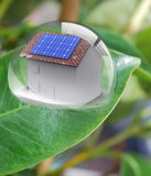 House with solar energy to make money Stock Photo