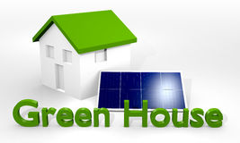 House with solar panel Stock Photo