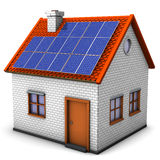 House Solar Panels Royalty Free Stock Photo