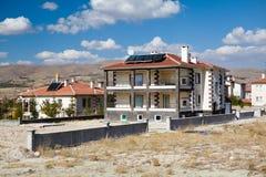 House with solar panels Stock Photos
