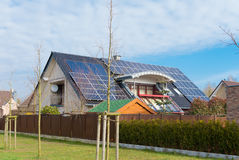 House with solar panels Stock Photography