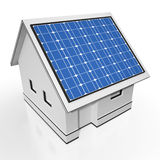 House With Solar Panels Showing Sun Electricity Royalty Free Stock Photos