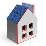 House With Solar Panels Shows Renewable Energy Royalty Free Stock Photo