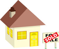 House sold Royalty Free Stock Photo