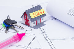 House sold Royalty Free Stock Photography