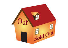 House sold out Royalty Free Stock Photos