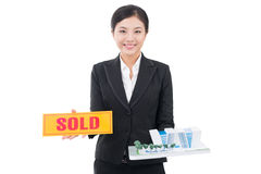 This house is sold! Stock Images