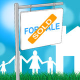 House Sold Represents Template Homes And Board Stock Image
