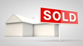 House with a sold sign Stock Photography