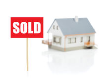 This house is sold Royalty Free Stock Images