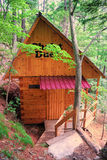 House for solitude household pair. Located in comfortable taiga timber Royalty Free Stock Image