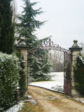 House in Southern France. House gate in mid winter in Southern France Royalty Free Stock Image