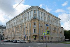 House on the Soviet side street. St. Petersburg. royalty free stock photos