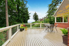 House with spacious walkout deck Stock Photos